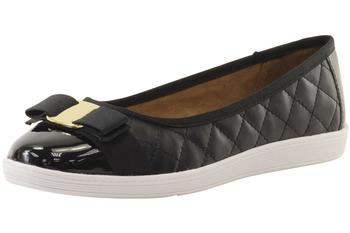 Image of Soft Style By Hush Puppies Women's Faeth Quilted Ballet Flats Shoes - Black - 10 B(M) US