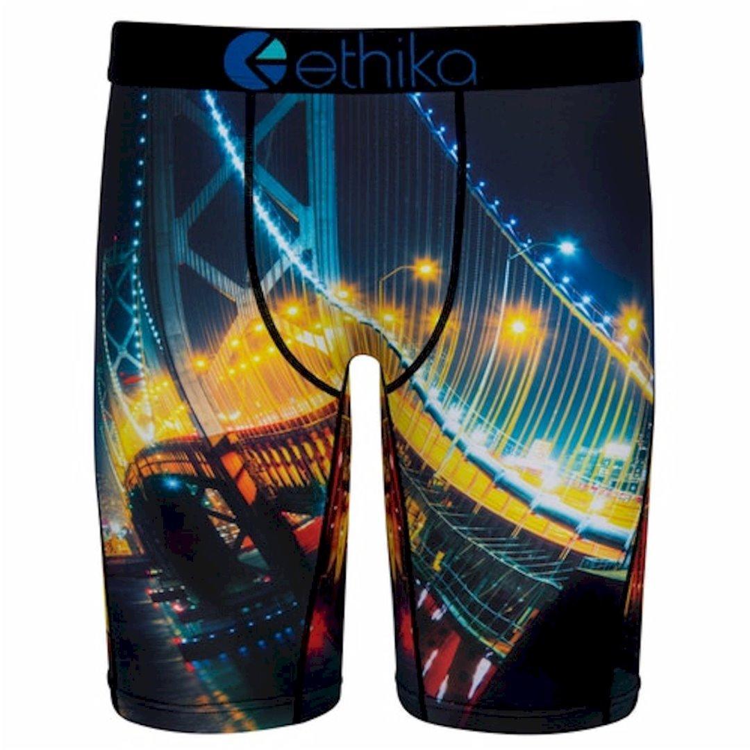 Image of Ethika Men's The Staple Fit Bae Bridge Long Boxer Briefs Underwear - Multi - X Large