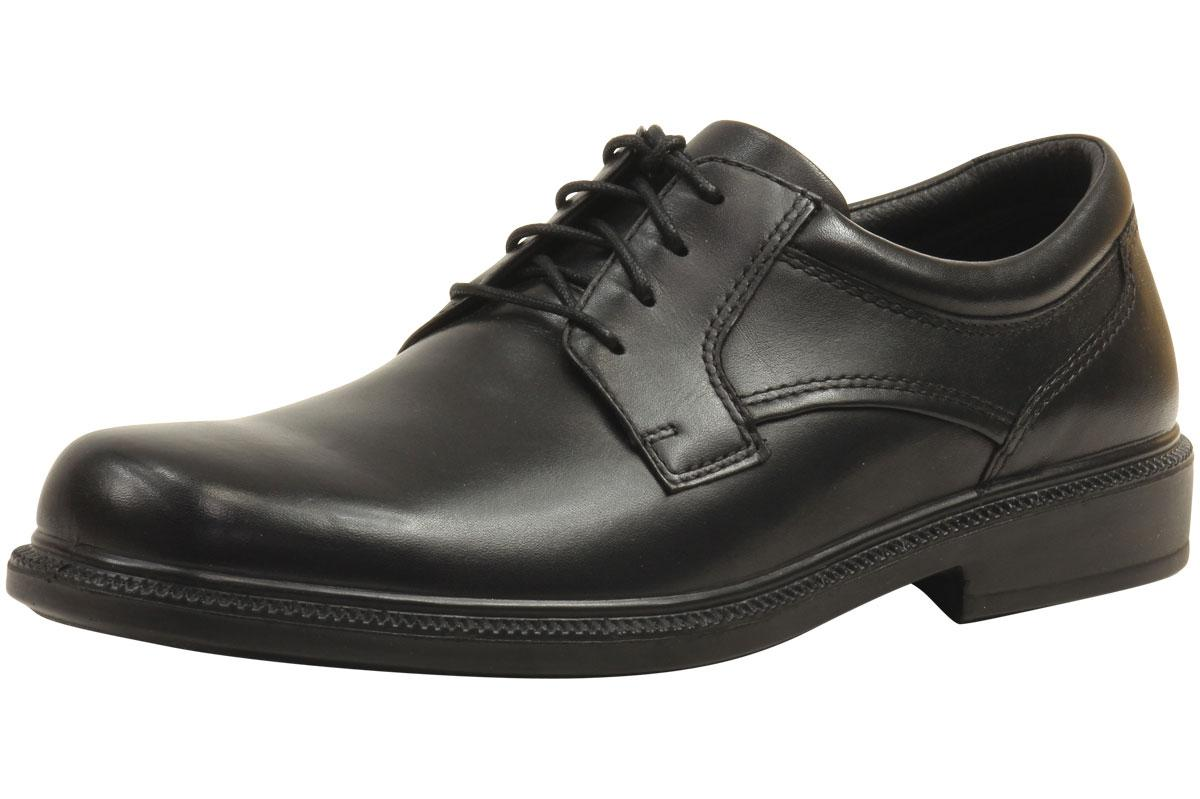Hush Puppies Men's Strategy All-Weather Black Lace Up Oxfords Shoes  UPC: