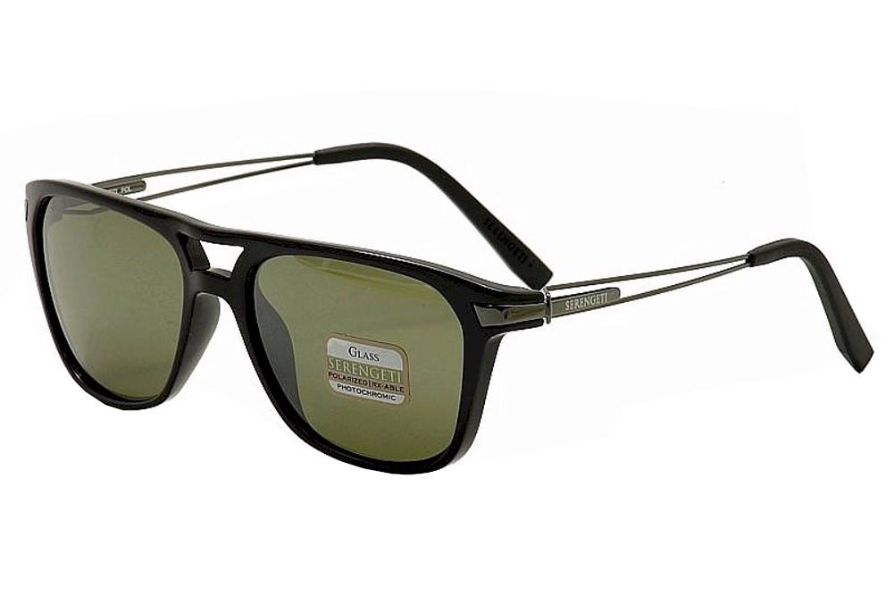 Image of Serengeti Empoli Square Sunglasses - Black