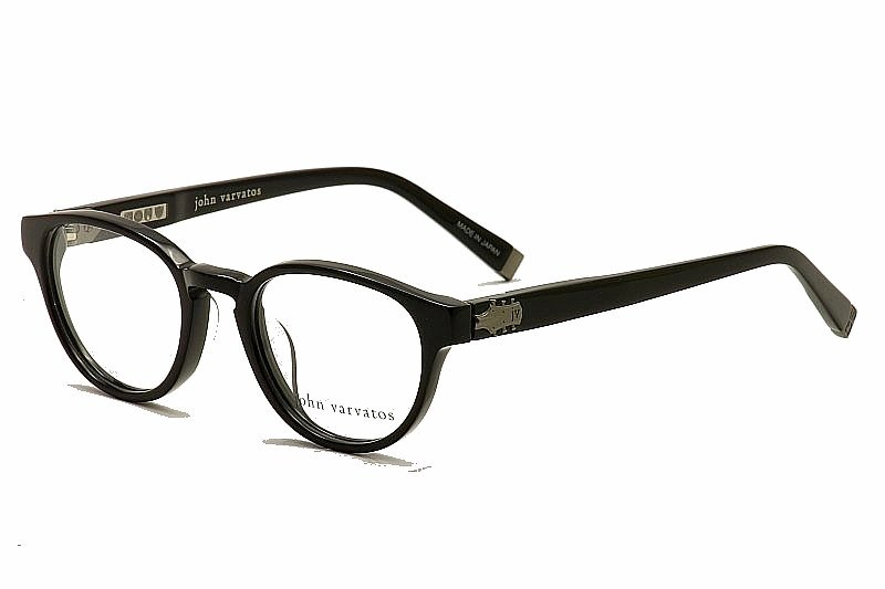 John Varvatos Eyeglasses V353 Optical Frame W/Sunglasses Clip-On