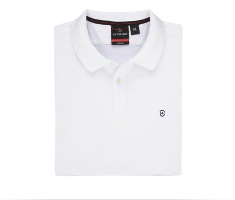 Image of Victorinox Men's Short Sleeve VX Polo Shirt - White - Extra Large