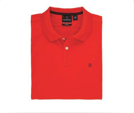 Image of Victorinox Men's Short Sleeve VX Polo Shirt - Orange - Medium