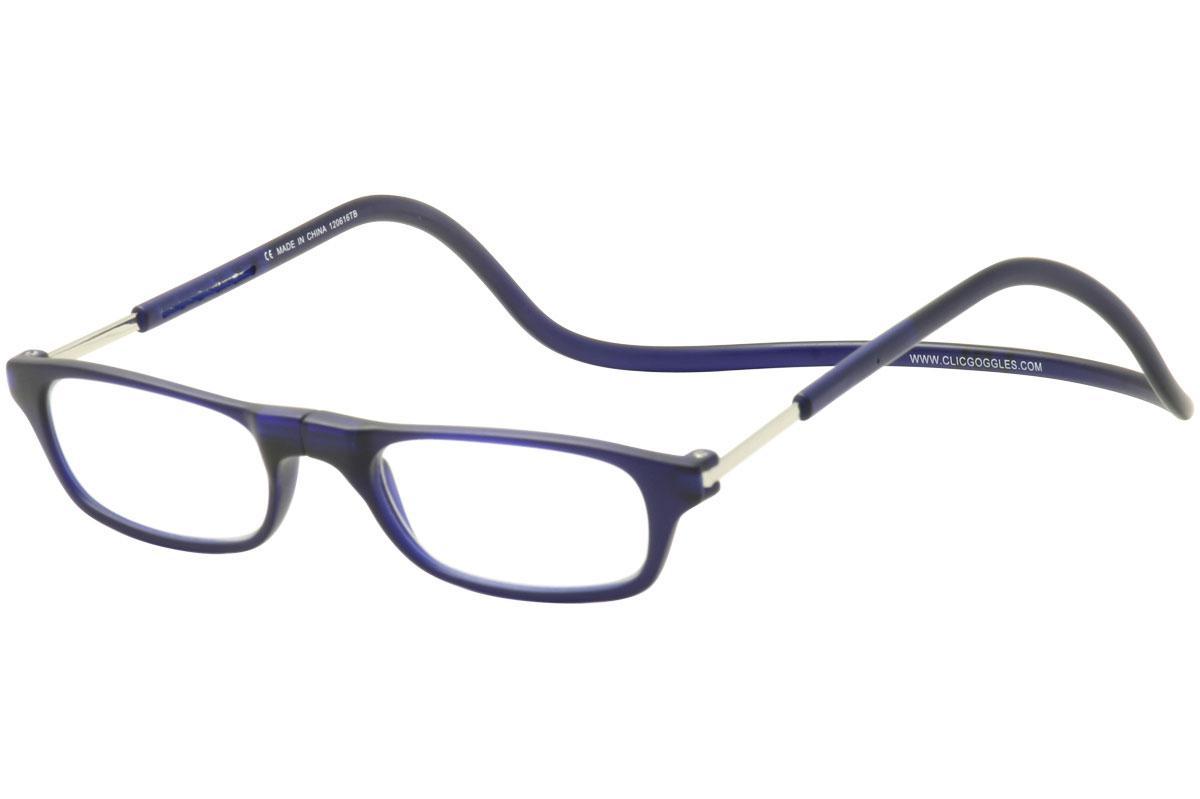 Image of Clic Reader Eyeglasses Original Frosted Reflex Magnetic Reading Glasses - Blue - Strength: +3.00
