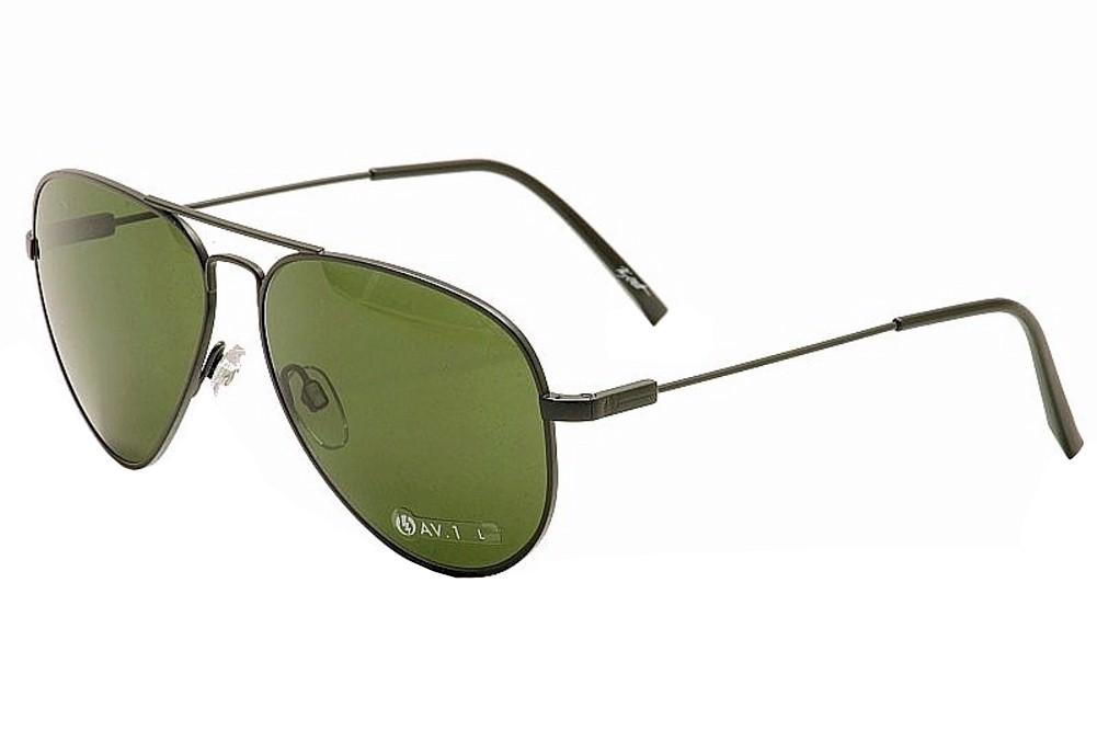 Image of Electric AV.1 Large Pilot Sunglasses - Black