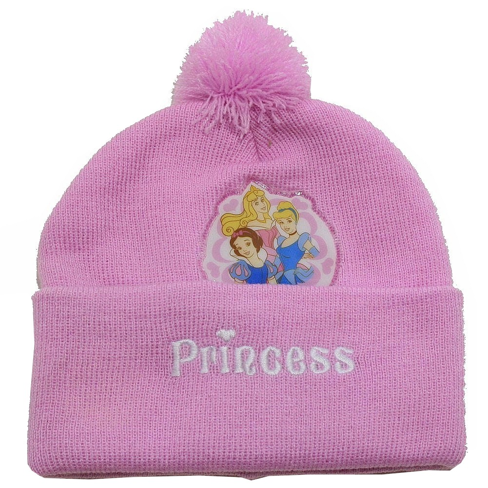 Image of Disney Princess Toddler Girl's Hat & Scarf Winter Set Sz. 2 4T - Purple - 2 4T