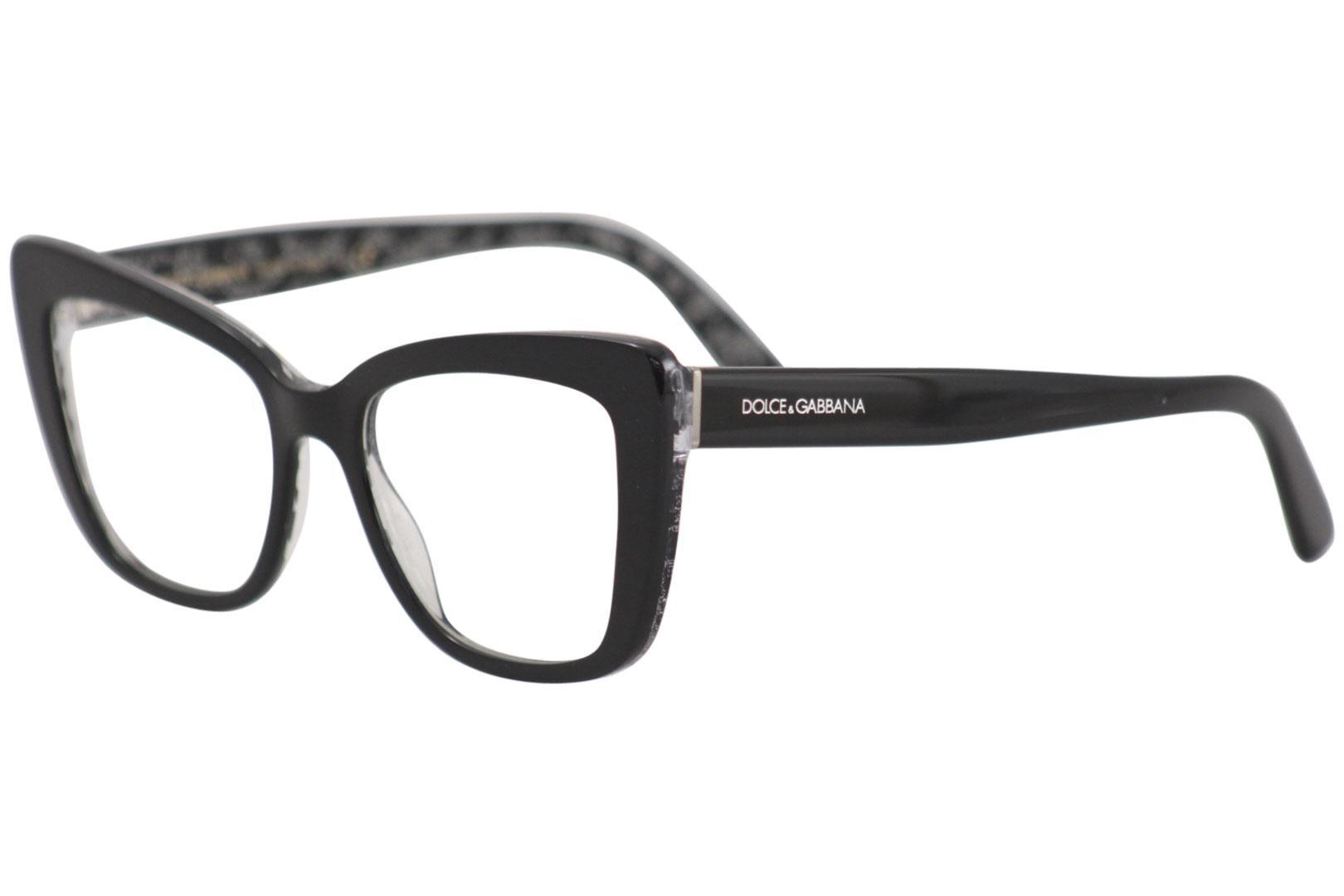 204c962e70 Dolce & Gabbana Eyeglasses D&G DG3308 3308 3203 Black/Silver Optical ...