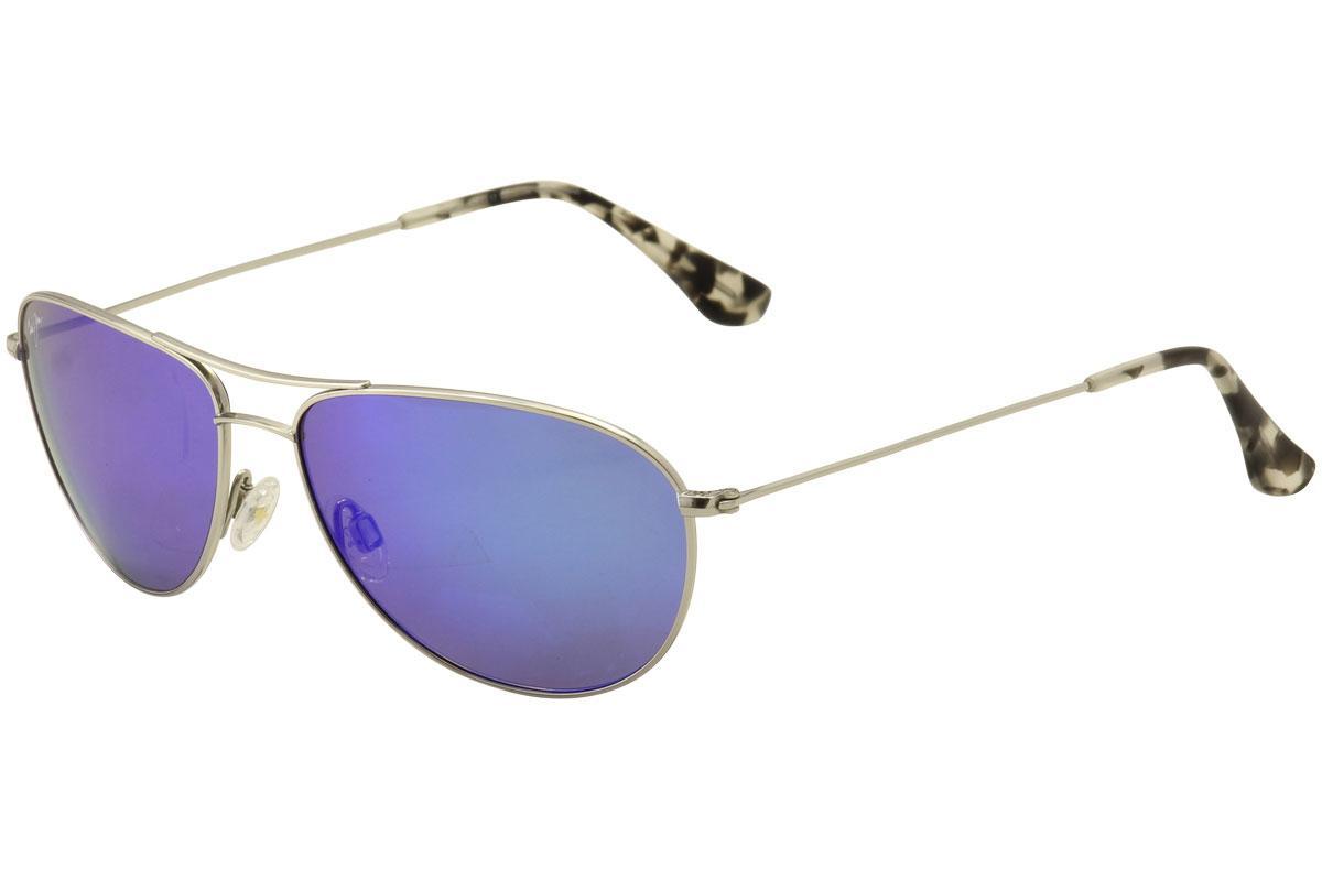 4e56f51e474 Maui Jim Men s Sea House MJ772 MJ 772 Polarized Pilot Fashion Sunglasses by Maui  Jim
