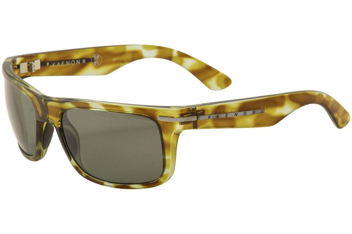Image of Kaenon Burnet 017 Polarized Fashion Sunglasses - Moss Silver/SR 91 Grey Polarized Lens   G120  - Lens 57 Bridge 19 Temple 125mm