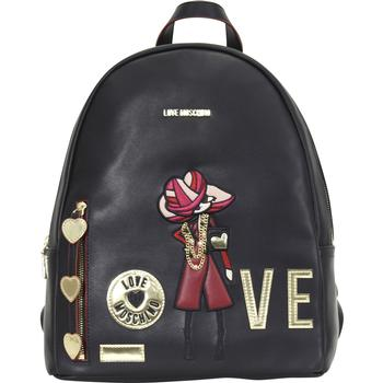 Love Moschino Women's Embroidered Fashionista Love Backpack Bag