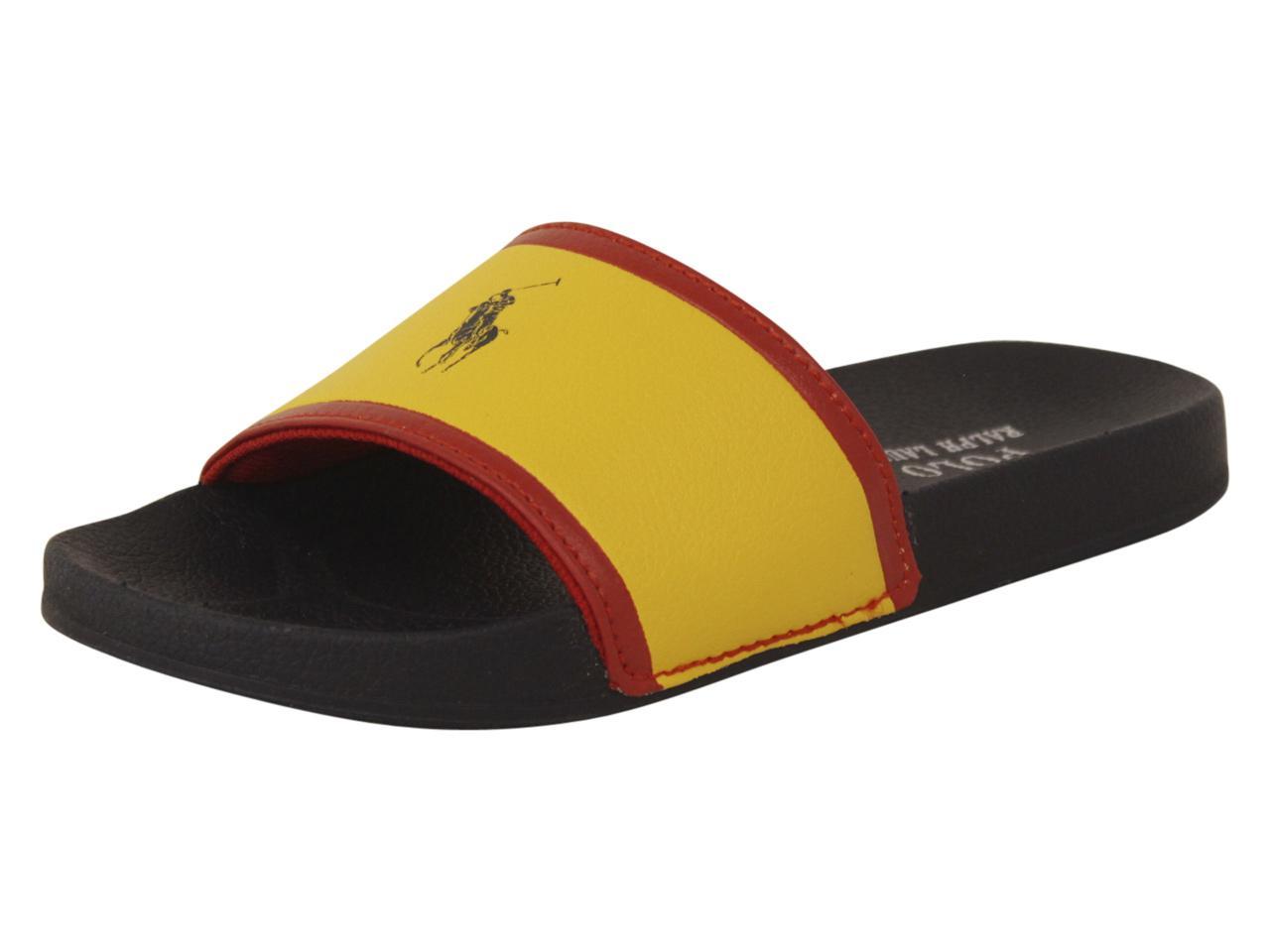 a0f72d1d6 Polo Ralph Lauren Little Big Boy s Quilton-Slide-II Slides Sandals Shoes