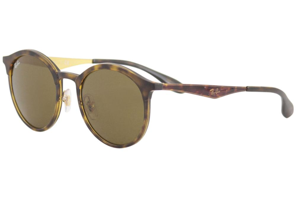 be502356928 Ray Ban Emma RB4277 RB 4277 6283 73 Matte Havana Round RayBan ...
