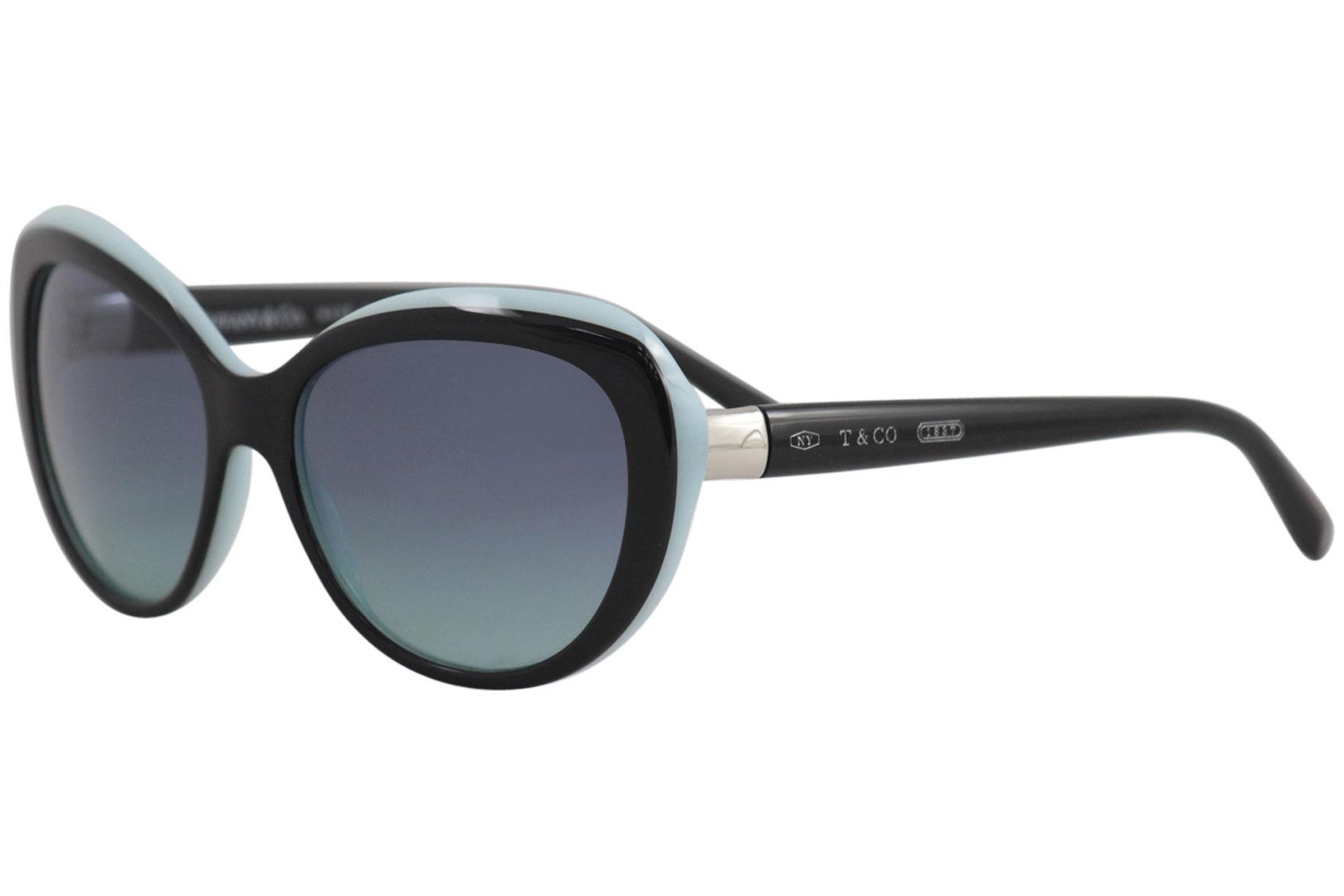 d08c6ecf34ebd Tiffany Co. Mujer   TF4122 TF 4122 8055 9S Negro Azul Gafas de sol ...