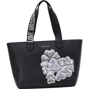 Love Moschino Women's Embroidered Hearts Cluster Tote Handbag