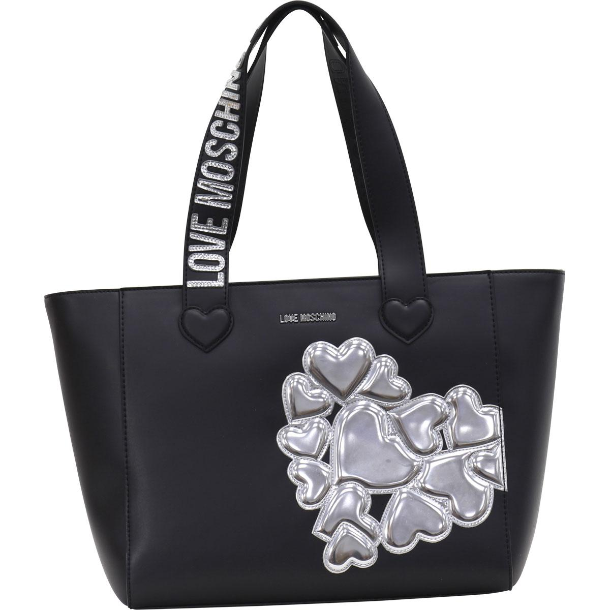 035411825c3 Love Moschino Women s Embroidered Hearts Cluster Tote Handbag