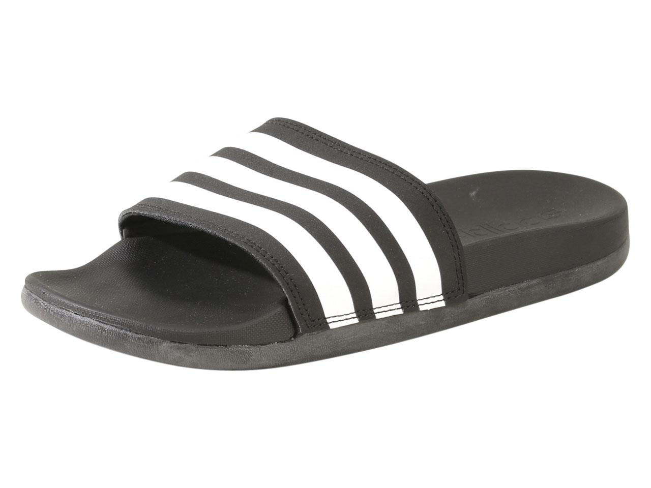 aabd9016 Adidas Men's Adilette Comfort Cloudfoam Plus Slides Sandals Shoes