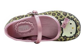 NEW Girl/'s Toddler HELLO KITTY LOLA Leopard Loafers Buckle Fashion Flats Shoes