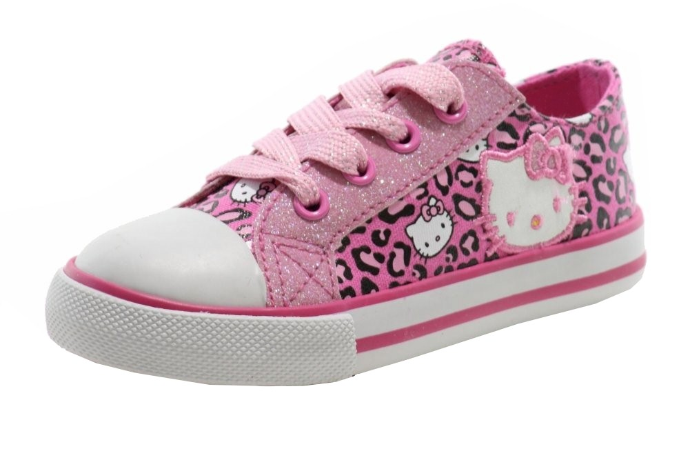 Image of Hello Kitty Girl's Fashion Sneakers HK Lil Leslie Shoes AE2031 - Pink - 5   Toddler
