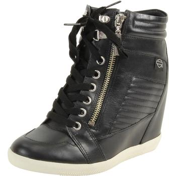Harley Davidson Black Label Women's Halyard Hidden Wedge Sneakers Shoes