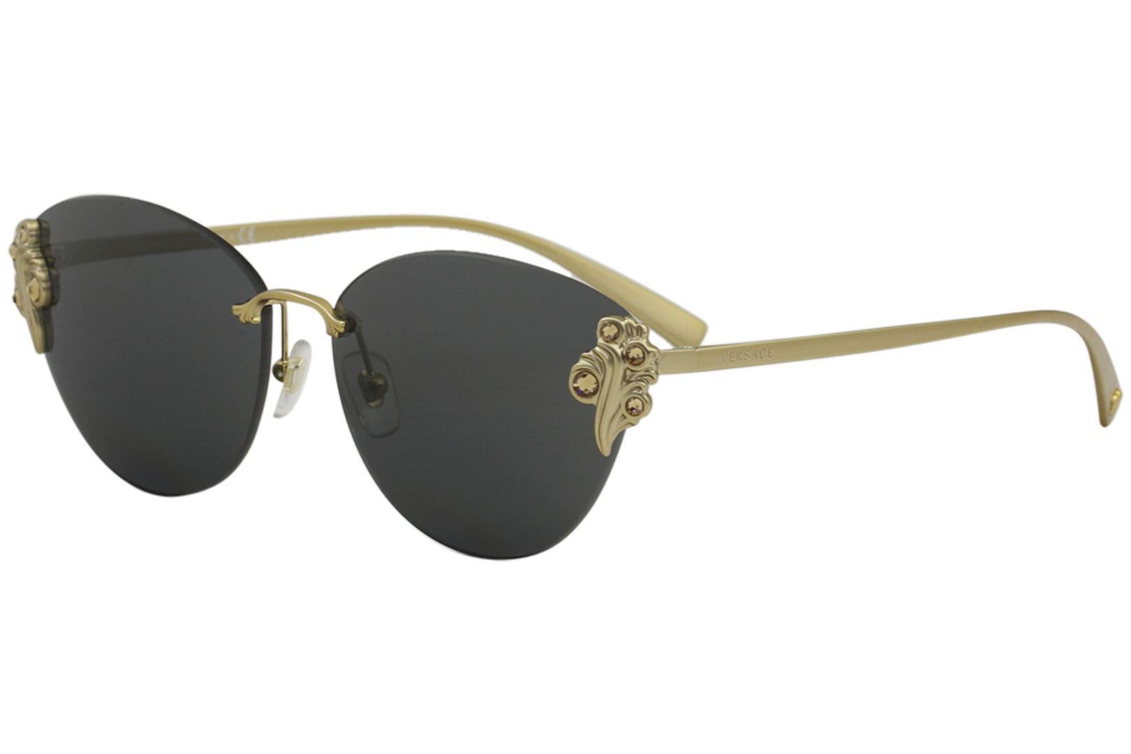7169492314 Versace Women s VE2196B VE 2196 B Fashion Cat Eye Sunglasses