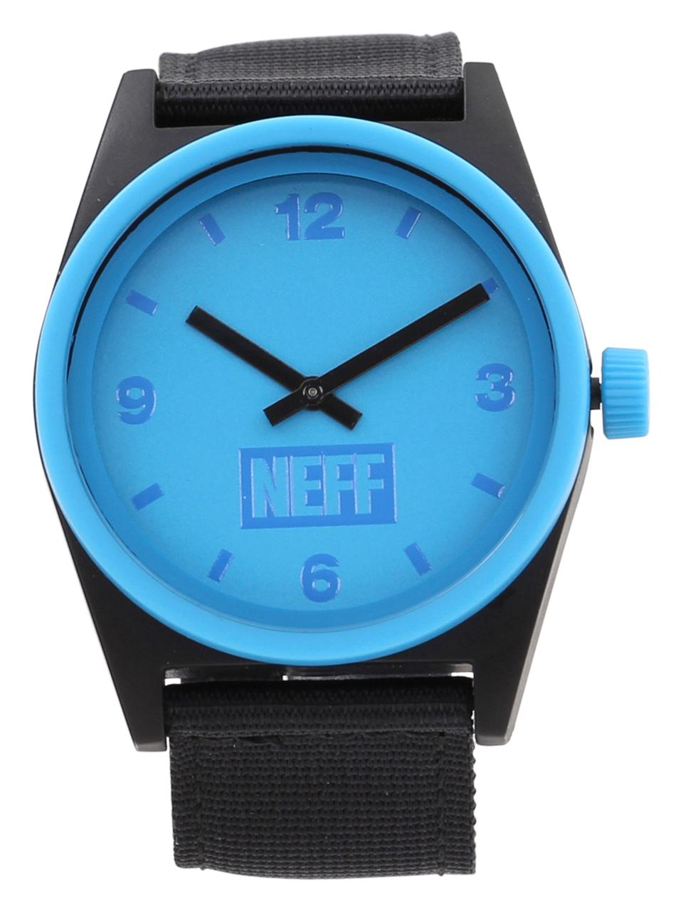 Image of Neff Daily NF0201 NF/0201 Black/Cyan Analog Watch - Red