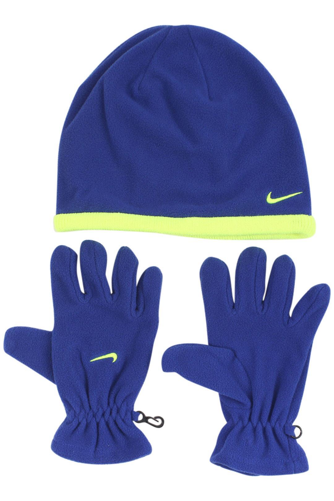 Nike Boy's Swoosh Logo 2-Piece Beanie Hat & Gloves Set