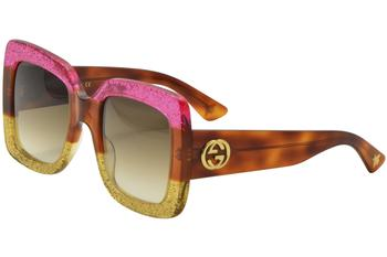 6a39208e8c9 Gucci Women s GG0083S GG 0083 S Square Sunglasses