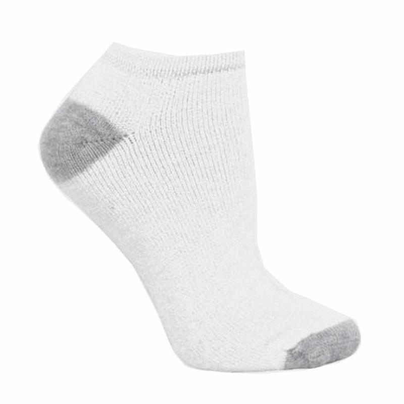 Image of Fruit Of The Loom Women's 6 Pair Low Cut Socks - White - Fits Shoe Sz 4 10