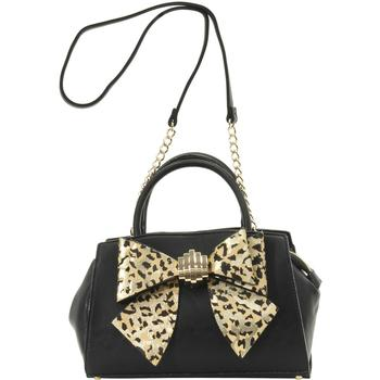 Betsey Johnson Women's Bow You See It Leopard Removable Bow Satchel Handbag UPC: