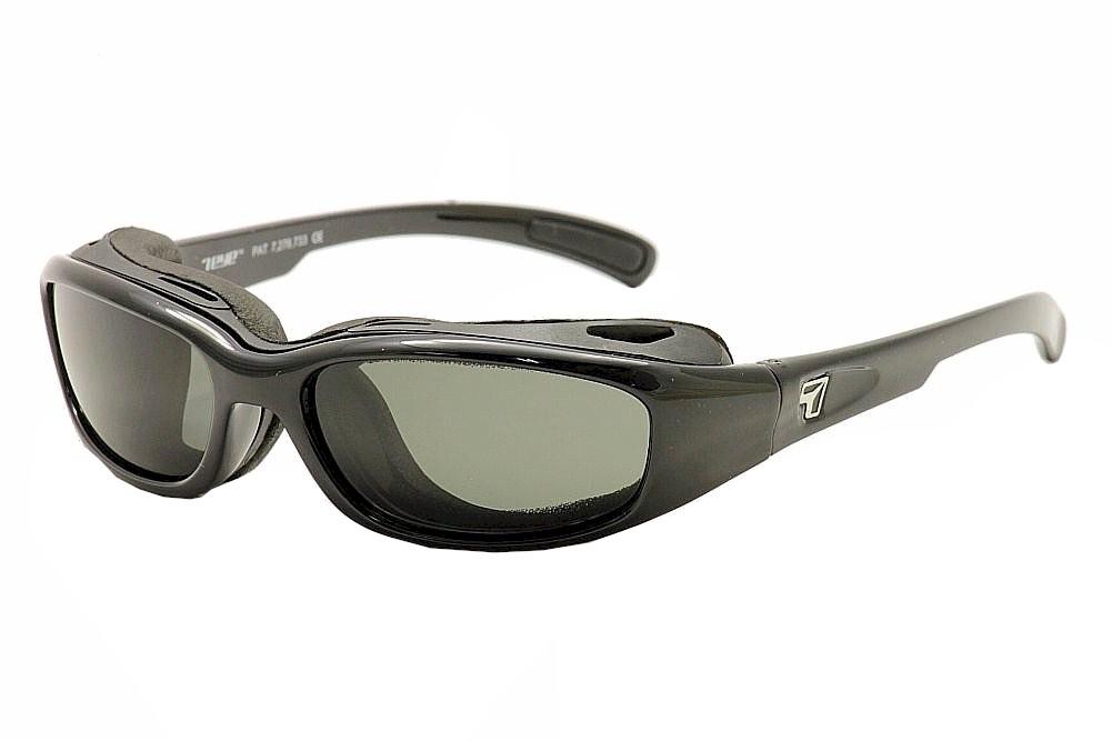 Image of 7Eye Men's Airshield Churada Wrap Sport Sunglasses - Black