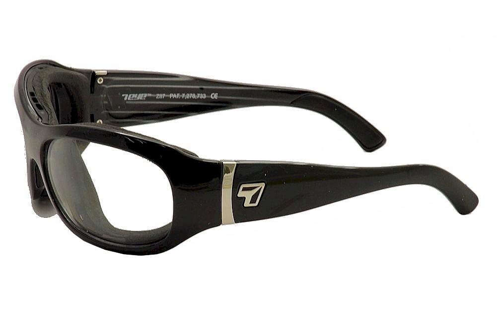 Image of 7Eye Men's Airshield Briza Wrap Sport Sunglasses - Glossy Black/Photochromic