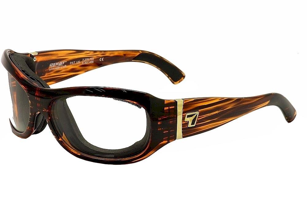Image of 7Eye Men's Airshield Briza Wrap Sport Sunglasses - Brown