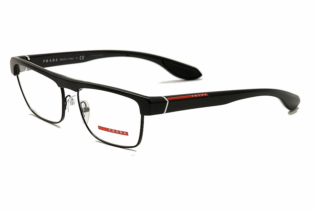 prada sport eyeglasses vps01e vps01e full rim optical frame health beautyvision careeyeglass frames