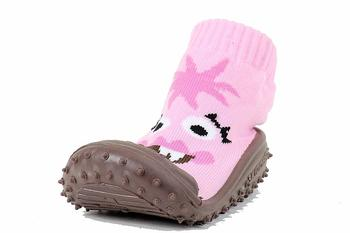 Skidders Girl's Skidproof Sneakers Bright Eyed Monster Pink Shoes  UPC: