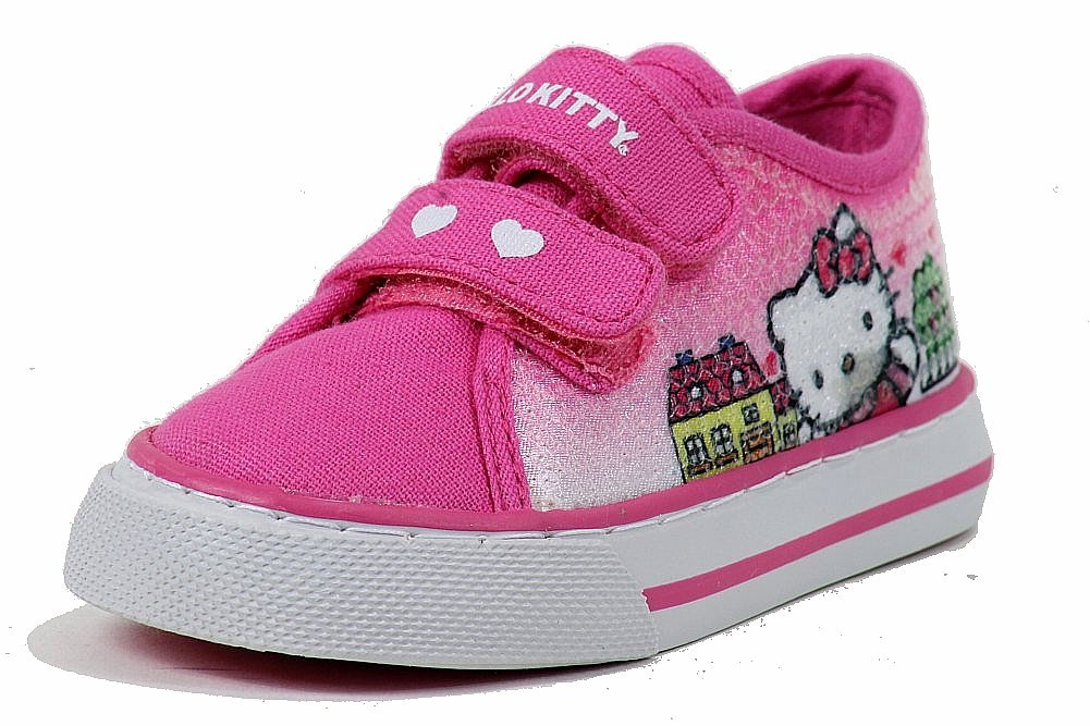 Image of Hello Kitty Girl's Fashion Sneakers HK Paige Shoes AR3420 - Pink - 6   Toddler