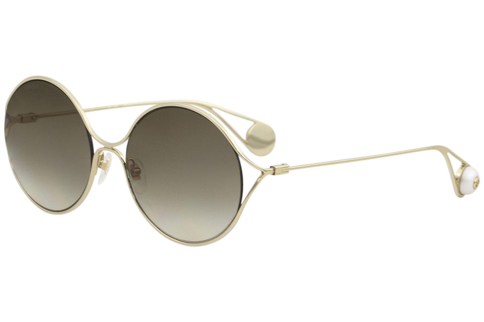 7160decdf8 Gucci Women s GG0253S GG 0253 S 002 Gold Fashion Round Sunglasses ...