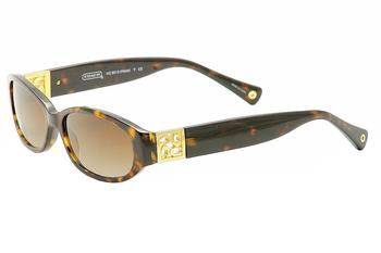 Coach Women s Hope HC HC 8012 8012 Oval Sunglasses 53mm 53-15-140mm
