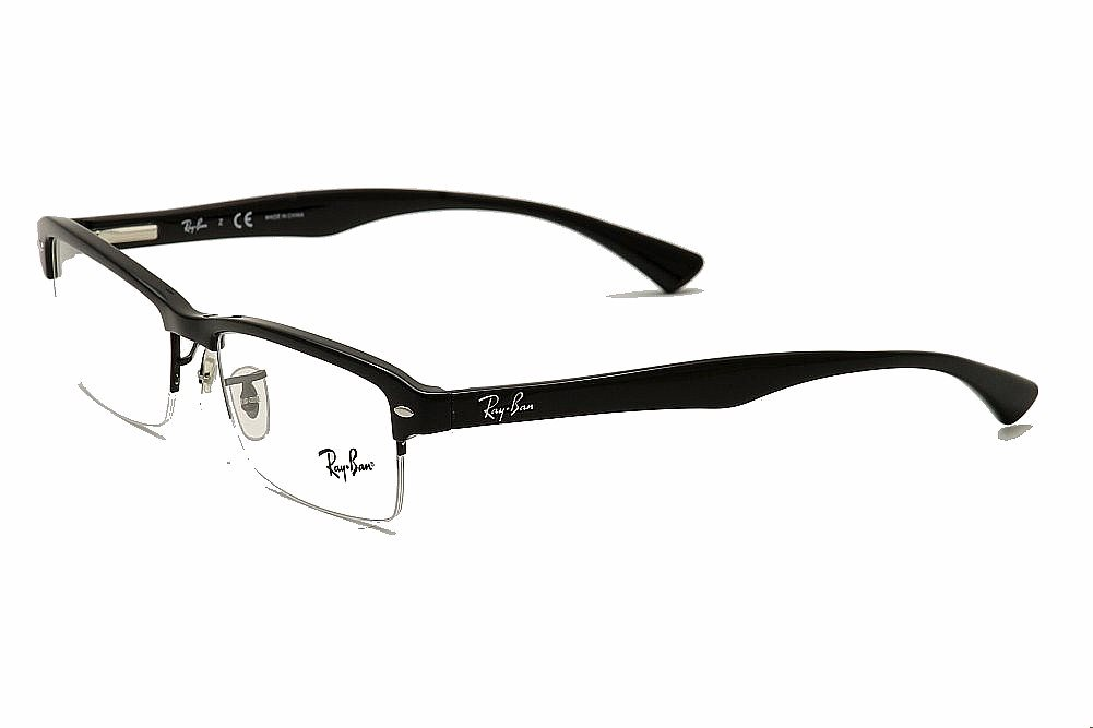 ray ban glasses half frame  ray ban men's eyeglasses rb7014 rb/7014 rayban half rim optical frame /health & beauty/vision care/eyeglass frames/