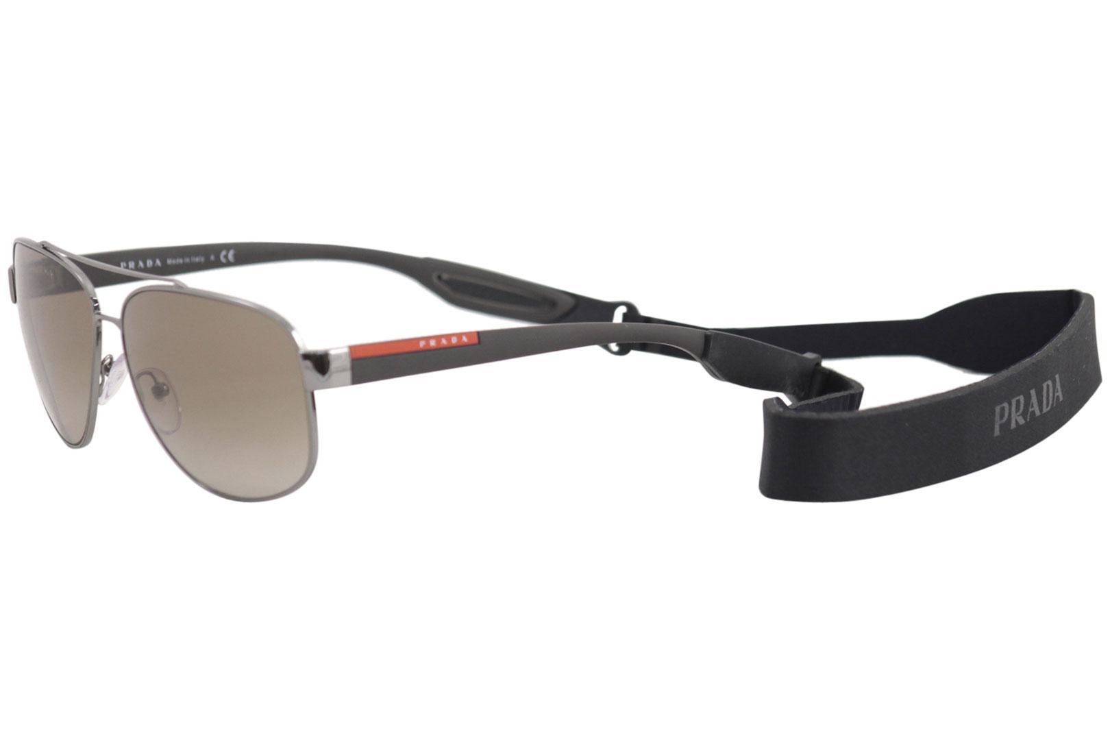 86092a91f24b8 Details about Prada Linea Rossa SPS58Q SPS 58Q 5AV1X1 Gunmetal Pilot Polarized  Sunglasses 63mm