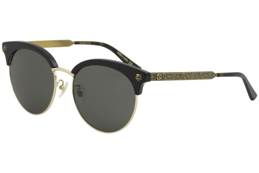 5d085a53394 Gucci Women s GG0222SK GG 0222 SK Fashion Round Sunglasses
