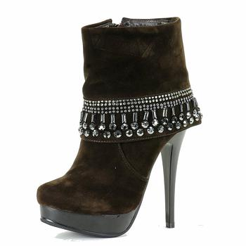 Italina Women's B-Kelly Fashion Studded Fold Ankle Boots Shoes UPC: