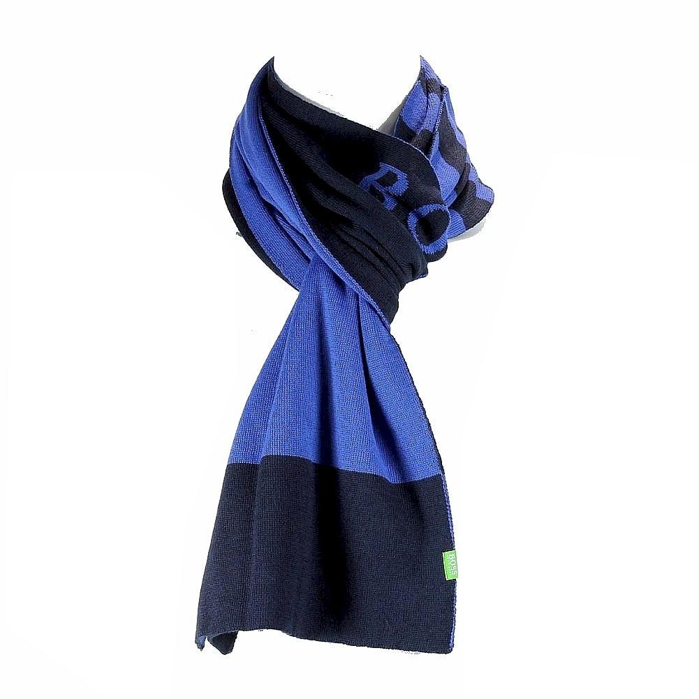 Image of Hugo Boss Men's 50247280 Color Block Scarf - Blue - One Size