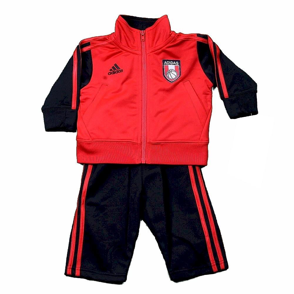Image of Adidas Infant/Toddler Boy's Impact Pant & Jacket 2 Piece Set - Red - 3T Toddler