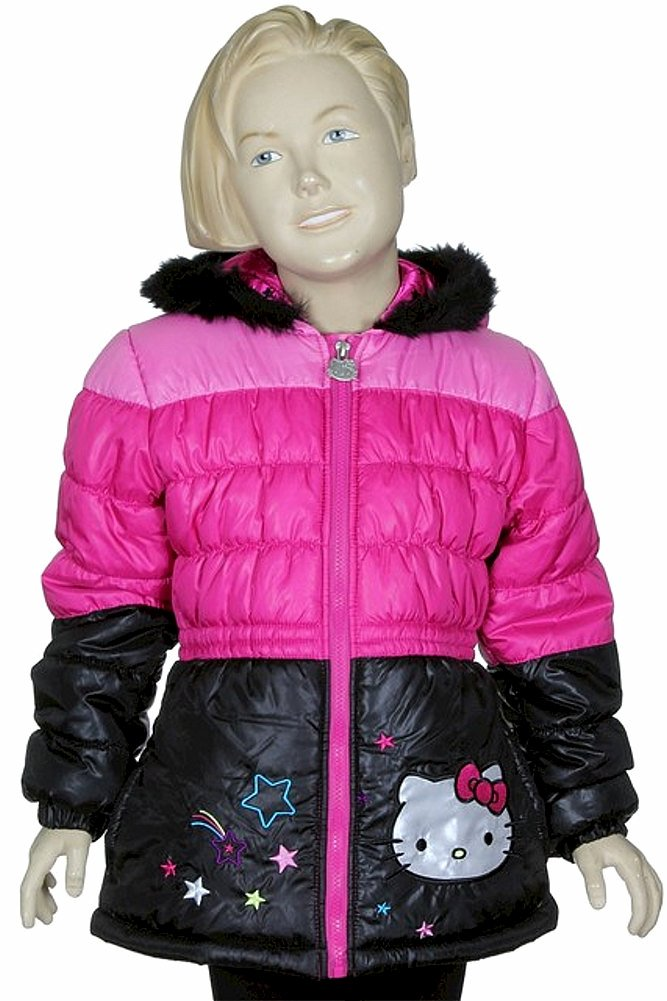 23ddd640a Hello Kitty Infant/Toddler Girl's HK032 Puffer Hooded Winter Jacket