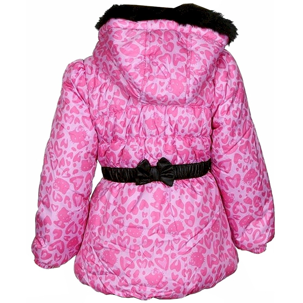 e16509837 Hello Kitty Infant Toddler Girl s Puffer Fleece Lined Winter Jacket