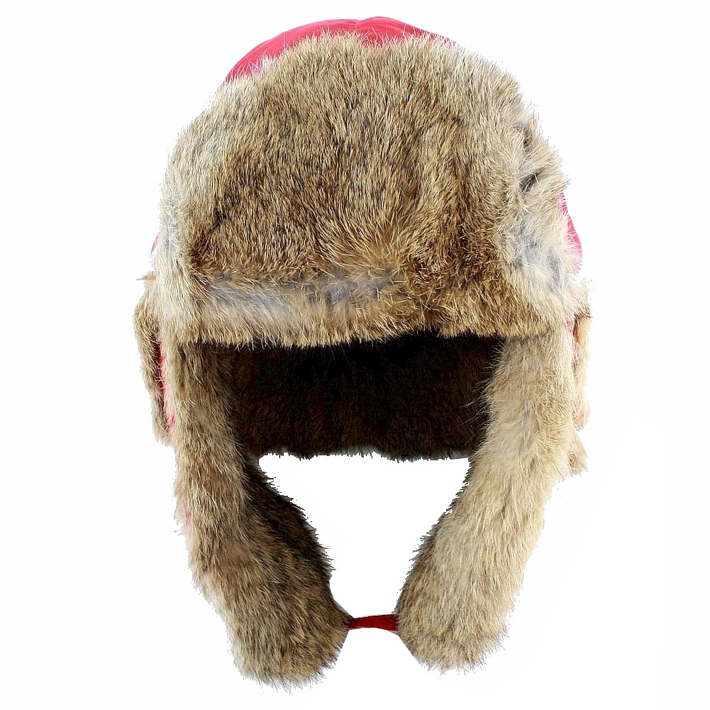 Image of Woolrich Fur Lined Winter Aviator Hat - Red - Small