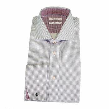 Ted Baker Taks Endurance Double Dot Cotton Long Sleeve Shirt  UPC: