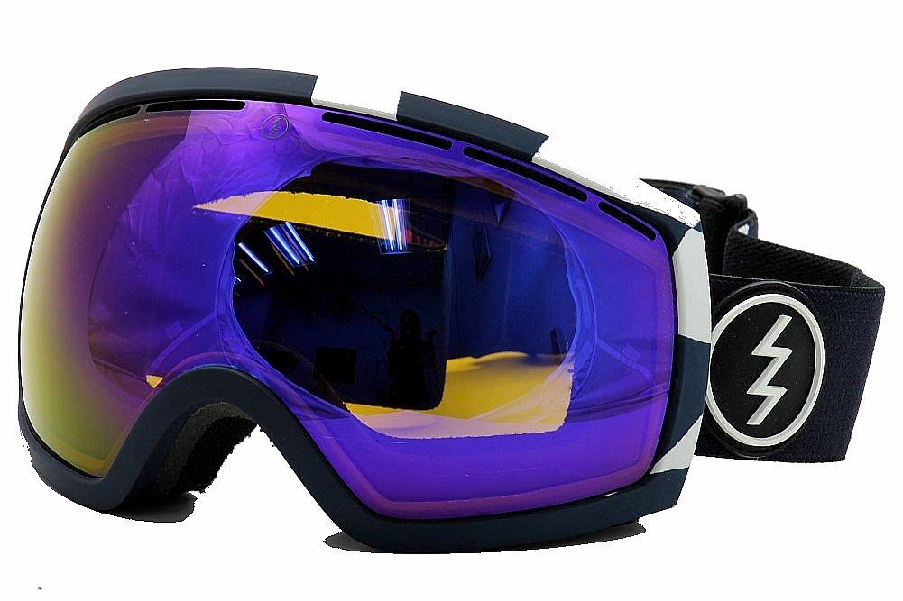 Image of Electric EG2 EG0513 EG/0513 Ergonomic Snow Goggles - V. Co Lab/Blue Chrome