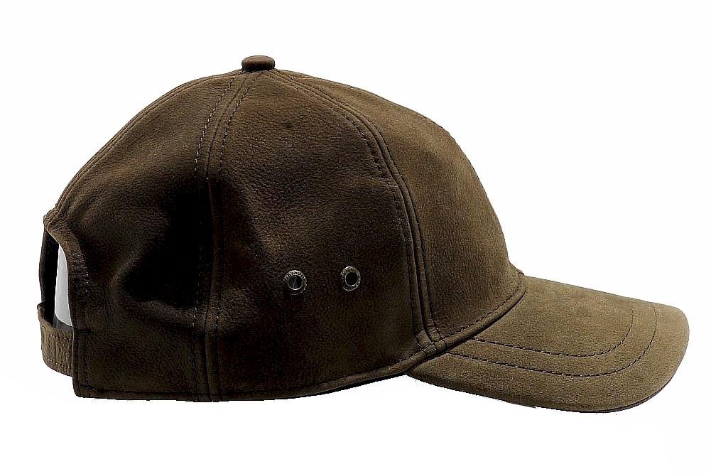 95c09d8ab8490 Stetson Men s Leather Baseball Cap Hat by Stetson