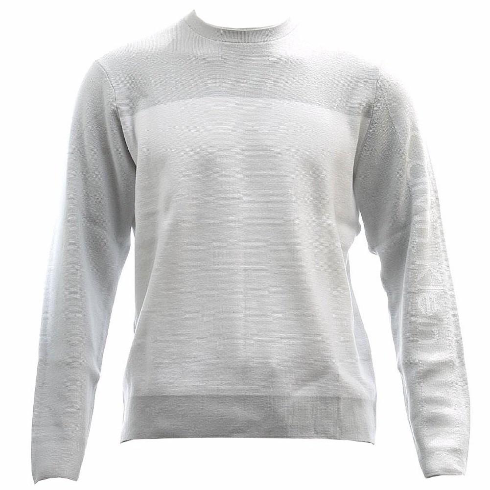 Calvin Klein Men s Dr Refined Logo Crew Neck Sweater Dr Refined Logo, 40GS701